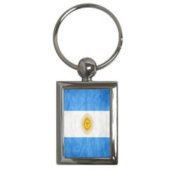 Argentina Texture Background Key Chains (rectangle)  by Simbadda
