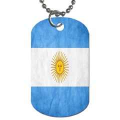 Argentina Texture Background Dog Tag (one Side) by Simbadda