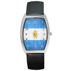 Argentina Texture Background Barrel Style Metal Watch by Simbadda