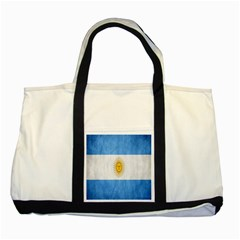 Argentina Texture Background Two Tone Tote Bag by Simbadda