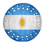 Argentina Texture Background Ornament (Round Filigree) Front