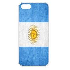 Argentina Texture Background Apple Iphone 5 Seamless Case (white) by Simbadda