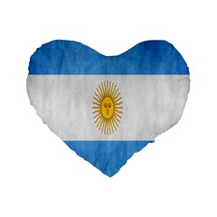 Argentina Texture Background Standard 16  Premium Heart Shape Cushions by Simbadda