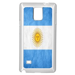 Argentina Texture Background Samsung Galaxy Note 4 Case (white) by Simbadda