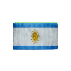 Argentina Texture Background Cosmetic Bag (xs) by Simbadda