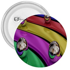 Balloons Colorful Rainbow Metal 3  Buttons by Simbadda