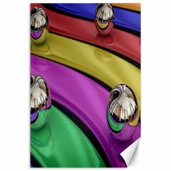 Balloons Colorful Rainbow Metal Canvas 24  X 36  by Simbadda