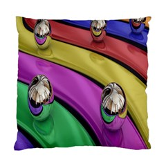 Balloons Colorful Rainbow Metal Standard Cushion Case (one Side) by Simbadda