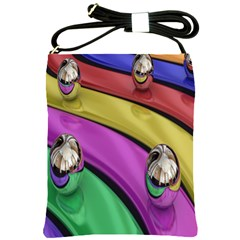 Balloons Colorful Rainbow Metal Shoulder Sling Bags by Simbadda