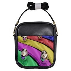 Balloons Colorful Rainbow Metal Girls Sling Bags