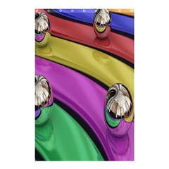 Balloons Colorful Rainbow Metal Shower Curtain 48  X 72  (small)