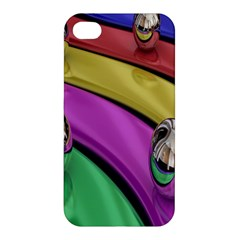 Balloons Colorful Rainbow Metal Apple Iphone 4/4s Hardshell Case by Simbadda