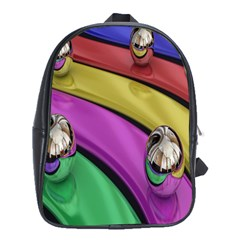 Balloons Colorful Rainbow Metal School Bags (xl)