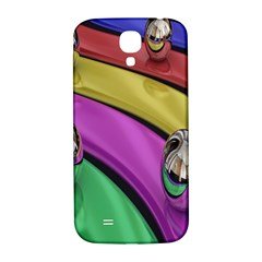 Balloons Colorful Rainbow Metal Samsung Galaxy S4 I9500/i9505  Hardshell Back Case by Simbadda