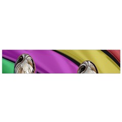 Balloons Colorful Rainbow Metal Flano Scarf (small) by Simbadda