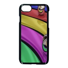 Balloons Colorful Rainbow Metal Apple Iphone 7 Seamless Case (black) by Simbadda