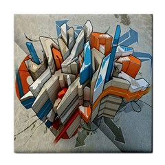 Abstraction Imagination City District Building Graffiti Tile Coasters by Simbadda
