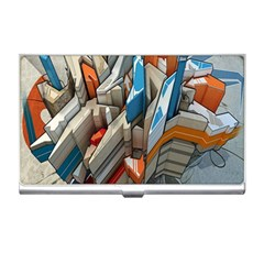 Abstraction Imagination City District Building Graffiti Business Card Holders by Simbadda