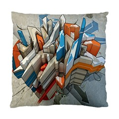 Abstraction Imagination City District Building Graffiti Standard Cushion Case (two Sides) by Simbadda