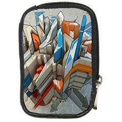 Abstraction Imagination City District Building Graffiti Compact Camera Cases by Simbadda