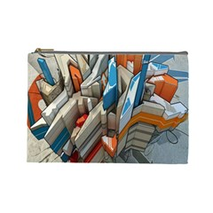 Abstraction Imagination City District Building Graffiti Cosmetic Bag (large)
