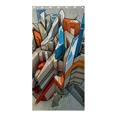 Abstraction Imagination City District Building Graffiti Shower Curtain 36  X 72  (stall)