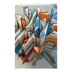 Abstraction Imagination City District Building Graffiti Shower Curtain 48  X 72  (small)  by Simbadda