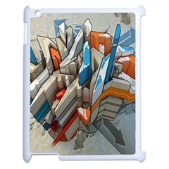 Abstraction Imagination City District Building Graffiti Apple Ipad 2 Case (white) by Simbadda