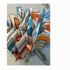 Abstraction Imagination City District Building Graffiti Large Garden Flag (two Sides) by Simbadda