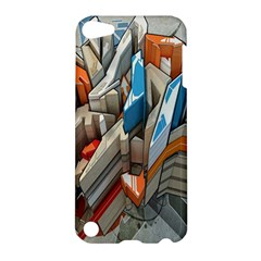 Abstraction Imagination City District Building Graffiti Apple Ipod Touch 5 Hardshell Case by Simbadda