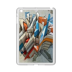 Abstraction Imagination City District Building Graffiti Ipad Mini 2 Enamel Coated Cases by Simbadda