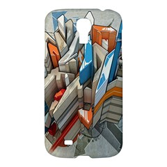 Abstraction Imagination City District Building Graffiti Samsung Galaxy S4 I9500/i9505 Hardshell Case by Simbadda