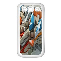 Abstraction Imagination City District Building Graffiti Samsung Galaxy S3 Back Case (white) by Simbadda