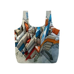 Abstraction Imagination City District Building Graffiti Full Print Recycle Bags (s)  by Simbadda