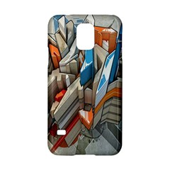 Abstraction Imagination City District Building Graffiti Samsung Galaxy S5 Hardshell Case  by Simbadda