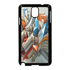 Abstraction Imagination City District Building Graffiti Samsung Galaxy Note 3 Neo Hardshell Case (black)
