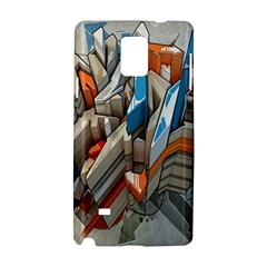 Abstraction Imagination City District Building Graffiti Samsung Galaxy Note 4 Hardshell Case