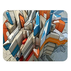 Abstraction Imagination City District Building Graffiti Double Sided Flano Blanket (large)