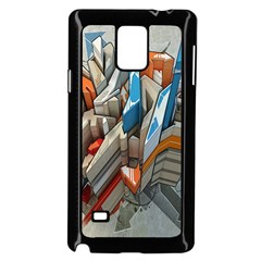 Abstraction Imagination City District Building Graffiti Samsung Galaxy Note 4 Case (black) by Simbadda