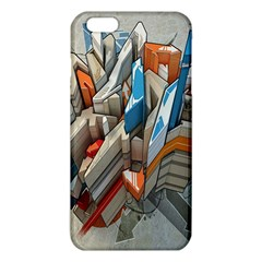 Abstraction Imagination City District Building Graffiti Iphone 6 Plus/6s Plus Tpu Case by Simbadda