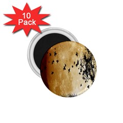 Birds Sky Planet Moon Shadow 1 75  Magnets (10 Pack)  by Simbadda