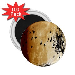 Birds Sky Planet Moon Shadow 2 25  Magnets (100 Pack)  by Simbadda