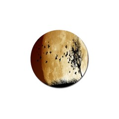 Birds Sky Planet Moon Shadow Golf Ball Marker (4 Pack) by Simbadda