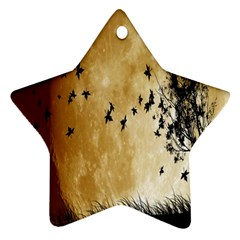 Birds Sky Planet Moon Shadow Star Ornament (two Sides) by Simbadda