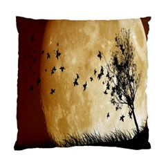 Birds Sky Planet Moon Shadow Standard Cushion Case (two Sides)