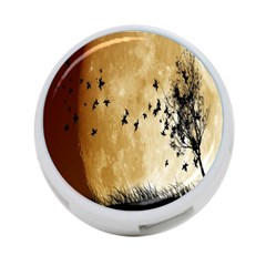 Birds Sky Planet Moon Shadow 4 Port Usb Hub (two Sides)  by Simbadda