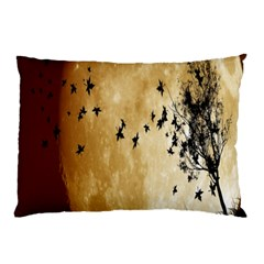 Birds Sky Planet Moon Shadow Pillow Case (two Sides) by Simbadda