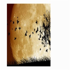 Birds Sky Planet Moon Shadow Small Garden Flag (two Sides)