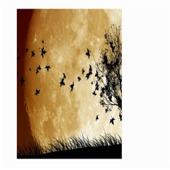 Birds Sky Planet Moon Shadow Large Garden Flag (two Sides) by Simbadda