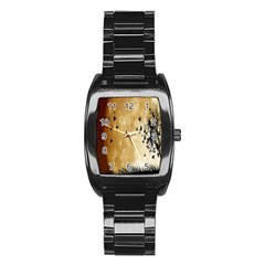 Birds Sky Planet Moon Shadow Stainless Steel Barrel Watch by Simbadda